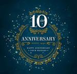 10周年纪念贺卡