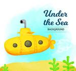 卡通黄色潜水艇