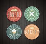 圆形面包店标签