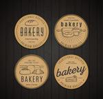 复古面包标签