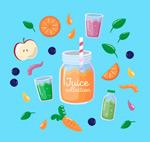 彩色水果和果汁