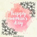 妇女节手绘花