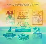 夏日假期徽章