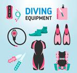 潜水装备矢量