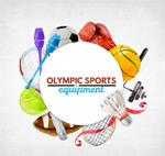 水彩绘奥运球具