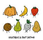 卡通蔬菜和水果
