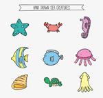 彩绘海洋动物