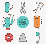 手工缝纫元素