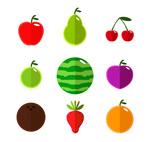 扁平化水果矢量