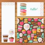 可爱甜品卡片