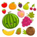 可爱表情水果