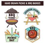 烧烤和野餐徽章