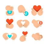 手绘爱心慈善标志