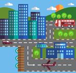 城市建筑和交通