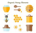 扁平化蜂蜜元素
