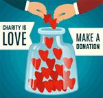 捐献爱心矢量
