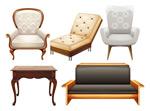 桌椅沙发椅矢量