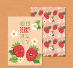 草莓友谊祝福卡