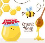 有机蜂蜜和蜜蜂