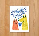 猫狗头像友谊卡