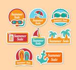 夏季假日促销标签