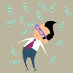 钞票与商务人物