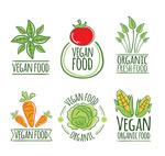 素食蔬菜标签