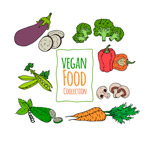 彩绘素食蔬菜