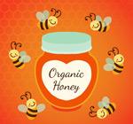 蜜蜂和罐装蜂蜜
