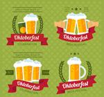 啤酒节标签矢量