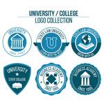 蓝色大学标志