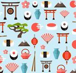 日本元素无缝背景