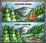 探险风景banner
