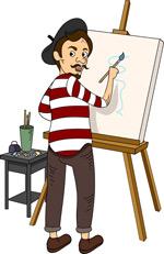 卡通风格画家