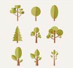 扁平化森林树木