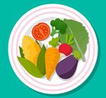 盘装素食蔬菜