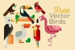 卡通雀鸟插画