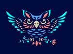猫头鹰元素标志