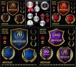 周年庆徽章标签