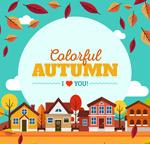 秋季城镇风景