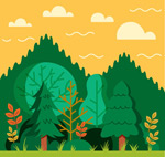 绿色树林树木