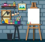 砖墙画室设计
