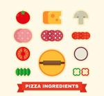 彩色披萨原料