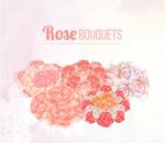 水彩绘玫瑰花束