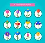 扁平化花朵设计