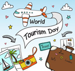 世界旅游日元素
