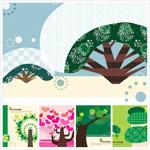 树木元素插画