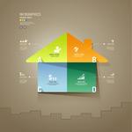 剪纸房屋信息图