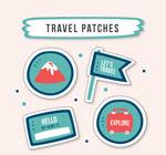旅行元素补丁徽章
