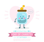 慈善日捐款瓶子